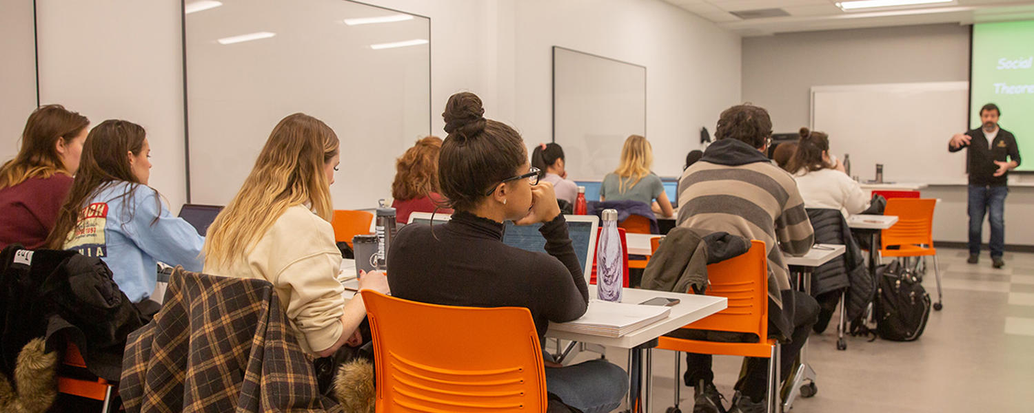 Students in a class room at our Calgary campus location