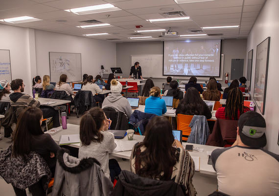 UCalgary Master of Social Work students in a seminar at our Calgary campus