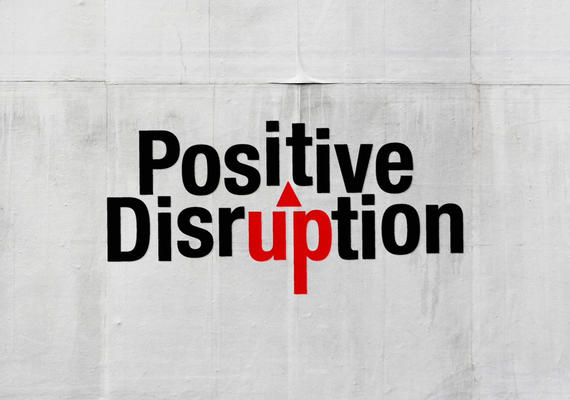 Positive Disruption logo for University of Calgary, Faculty of Social Work's popular series
